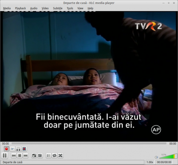 TVR 2 DVB-T în VLC